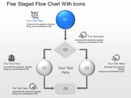 lk Five Staged Flow Chart With Icons Powerpoint Template