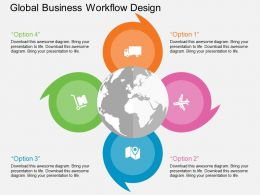 Lk Global Business Workflow Design Flat Powerpoint Design