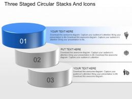 lk Three Staged Circular Stacks And Icons Powerpoint Template