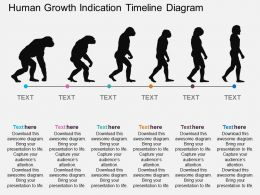 Ll Human Growth Indication Timeline Diagram Flat Powerpoint Design