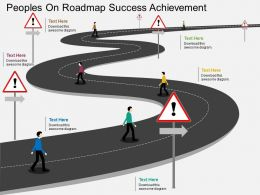 ll Peoples On Roadmap Success Achievement Flat Powerpoint Design
