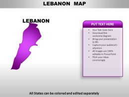 Llebanon Country PowerPoint Maps