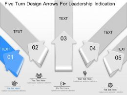 lm Five Turn Design Arrows For Leadership Indication Powerpoint Template