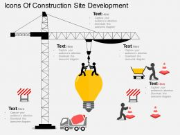 Lm Icons Of Construction Site Development Flat Powerpoint Design