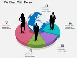 lm Pie Chart With Person Flat Powerpoint Design
