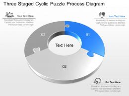 lm Three Staged Cyclic Puzzle Process Diagram Powerpoint Template