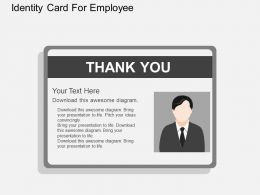 Ln Identity Card For Employee Flat Powerpoint Design