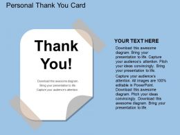ln Personal Thank You Card Flat Powerpoint Design