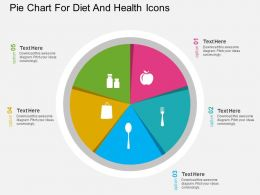 ln Pie Chart For Diet And Health Icons Flat Powerpoint Design