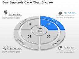 lo Four Segments Circle Chart Diagram Powerpoint Template