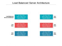 Load Balanced Server Architecture Ppt Powerpoint Presentation Infographic Template Picture Cpb