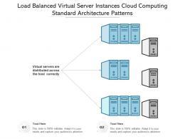 Load Balanced Virtual Server Instances Cloud Computing Standard Architecture Patterns Ppt Diagram