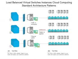 Load Balanced Virtual Switches Instances Cloud Computing Standard Architecture Patterns Ppt Slide