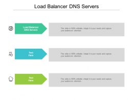 Load Balancer DNS Servers Ppt Powerpoint Presentation Portfolio Summary Cpb