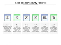 Load Balancer Security Features Ppt Powerpoint Gallery Demonstration Cpb