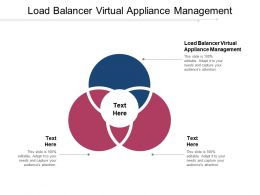 Load Balancer Virtual Appliance Management Ppt Powerpoint Presentation Summary Format Cpb