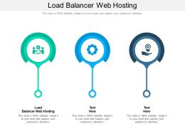 Load Balancer Web Hosting Ppt Powerpoint Presentation Professional Slideshow Cpb