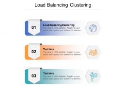 Load Balancing Clustering Ppt Powerpoint Presentation Show Aids Cpb