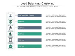 Load Balancing Clustering Ppt Powerpoint Presentation Visual Aids Icon Cpb