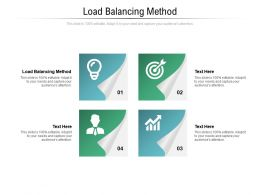 Load Balancing Method Ppt Powerpoint Presentation Outline Introduction Cpb