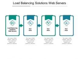 Load Balancing Solutions Web Servers Ppt Powerpoint Presentation Gallery Graphics Cpb