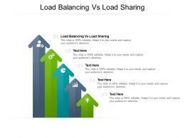 Load Balancing Vs Load Sharing Ppt Powerpoint Presentation Outline Visual Aids Cpb