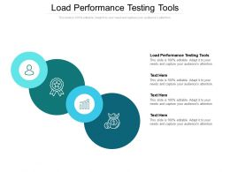 Load Performance Testing Tools Ppt Powerpoint Presentation Infographic Template Microsoft Cpb