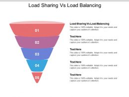 Load Sharing Vs Load Balancing Ppt Powerpoint Presentation File Mockup Cpb