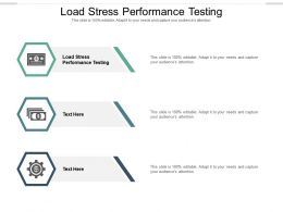 Load Stress Performance Testing Ppt Powerpoint Presentation Professional Introduction Cpb