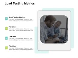 Load Testing Metrics Ppt Powerpoint Presentation Outline Good Cpb