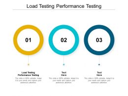 Load Testing Performance Testing Ppt Powerpoint Presentation Infographic Template Icons Cpb