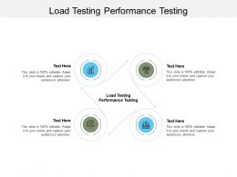 Load Testing Performance Testing Ppt Powerpoint Presentation Layouts Layout Ideas Cpb