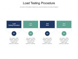 Load Testing Procedure Ppt Powerpoint Presentation Summary Structure Cpb