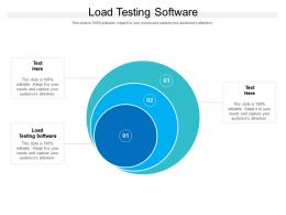 Load Testing Software Ppt Powerpoint Presentation Model Graphics Cpb
