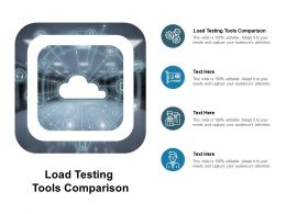 Load Testing Tools Comparison Ppt Powerpoint Presentation Themes Cpb