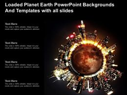 Loaded Planet Earth Powerpoint Backgrounds And Templates With All Slides