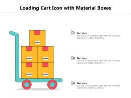 Loading Cart Icon With Material Boxes