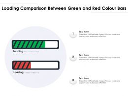 Loading Comparison Between Green And Red Colour Bars