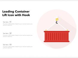 Loading Container Lift Icon With Hook