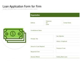 Loan Application Form For Firm