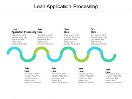 Loan Application Processing Ppt Powerpoint Presentation Outline Inspiration Cpb