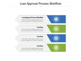 Loan Approval Process Workflow Ppt Powerpoint Presentation Ideas Portfolio Cpb