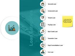 Loan Categories Ppt Powerpoint Presentation File Introduction