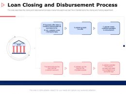Loan Closing And Disbursement Process Customer Ppt Powerpoint Presentation Model Master Slide