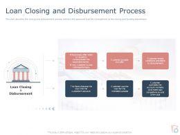 Loan Closing And Disbursement Process Ppt Powerpoint Presentation Gallery