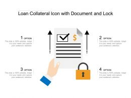 Loan Collateral Icon With Document And Lock
