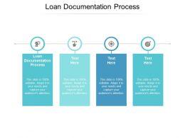 Loan Documentation Process Ppt Powerpoint Presentation Ideas Skills Cpb