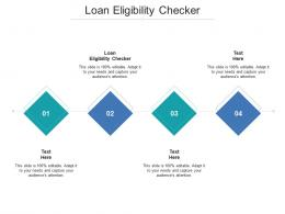 Loan Eligibility Checker Ppt Powerpoint Presentation Images Cpb