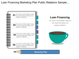 Loan Financing Marketing Plan Public Relations Sample Contracts