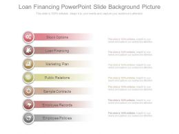 Loan Financing Powerpoint Slide Background Picture